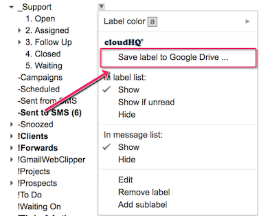 Save Any Gmail Label to Google Drive
